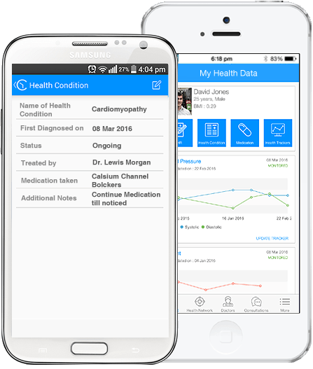 Cardiovascular care by your own doctors on the mobile
