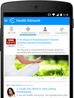 Get customised health information on the mobile